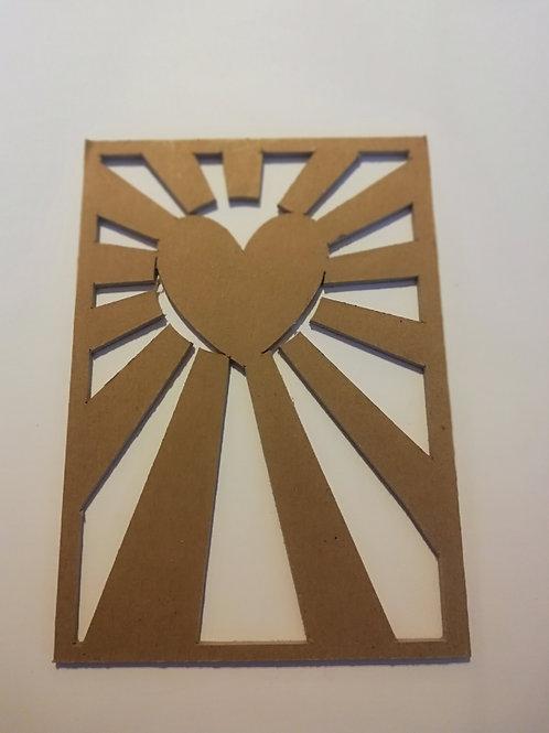 chipboard 2 mm Mille et une créations cadre coeur