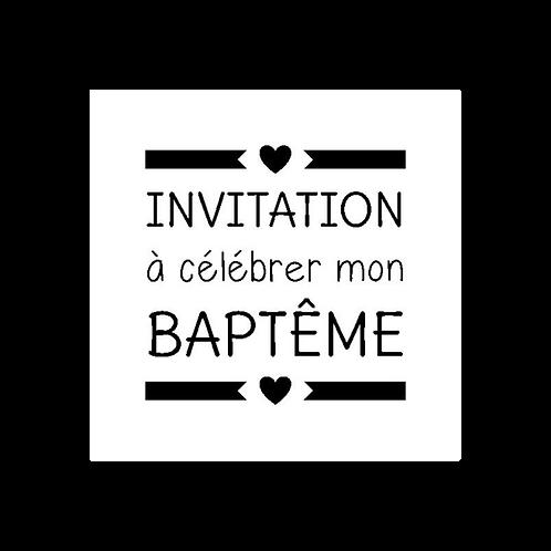 Mini tampon clear invitation