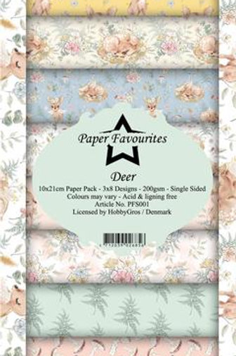 BLOC 24 Papier 24x10 cm Paper favorites PFS001