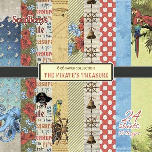 Papier the  pirate's treasure 15 x15cm