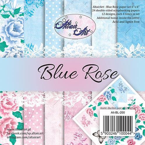 Bloc Blue roses 15x15 cm