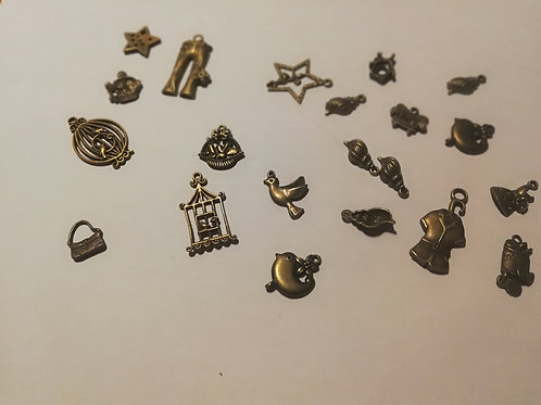 lot de 20 breloques bronze