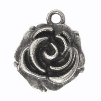 Lot 5 breloques roses 14x18 mm