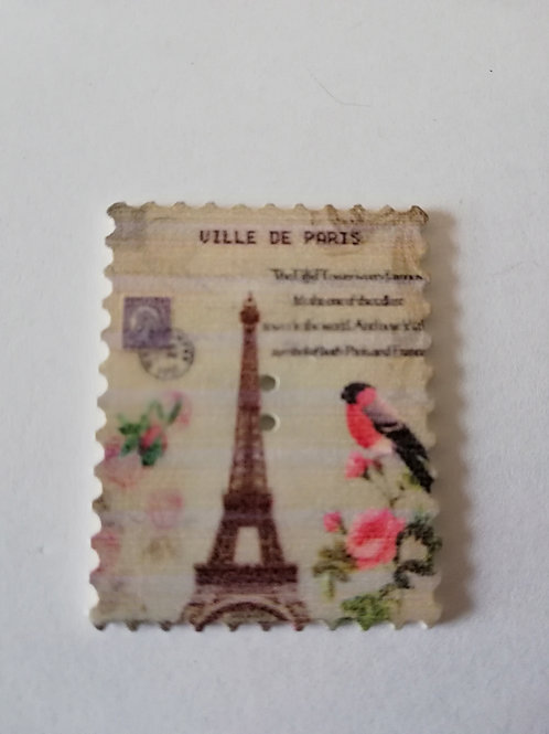 embellissement bois timbre paris oiseaux