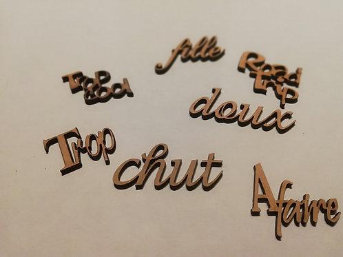 Embellissement lot 2 mot en français