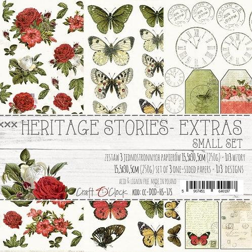 Lot de 3 feuilles Heritage Stories Extra 15.5x30.5cm