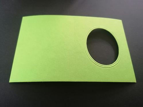 mini double carte Vert pomme Ovale 6x8 cm