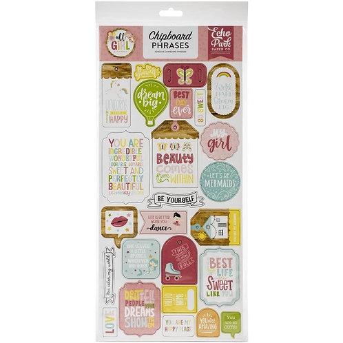 Chipboard Carton All girl