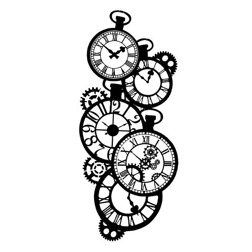 Pochoir Stamperia horloges