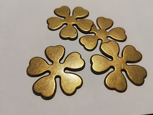 Lot d'embellissement fleurs metal bronze petites 3  cm