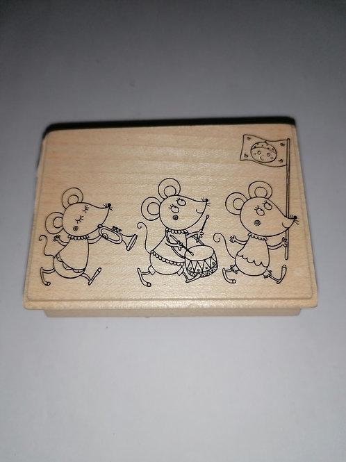 Tampon bois petites souris