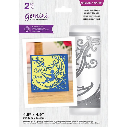 Gemini Moon and Stars Create-a-Card Dies (GEM-MD-CAD-MAS)