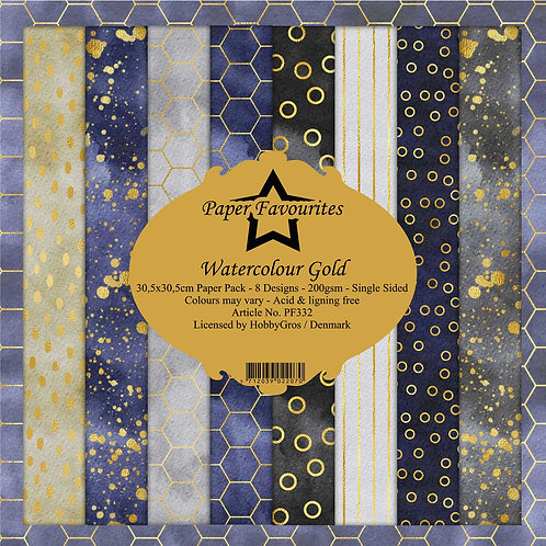 Papiers Paper Favourites 30,5 x 30,5 cm   watercolour gold