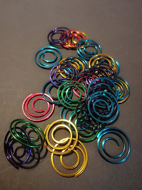 Lot de 10 paperclip 20 mm multicolor
