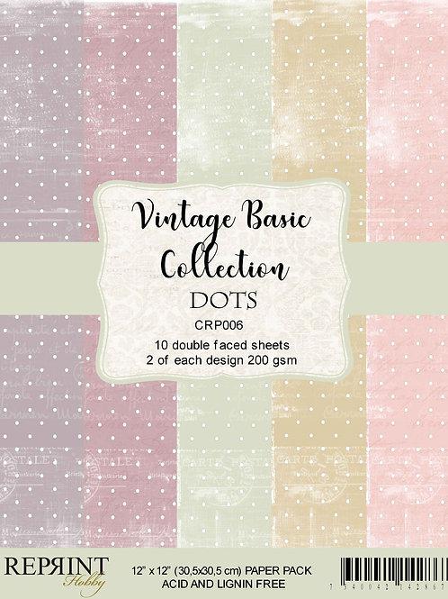 Bloc papier vintage basic Dots