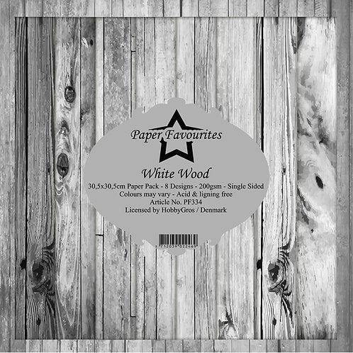 PAPIER 30,5 X 30,5 CM White Wood
