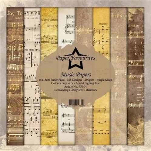 PAPIER 15 x 15 CM Music  PF104