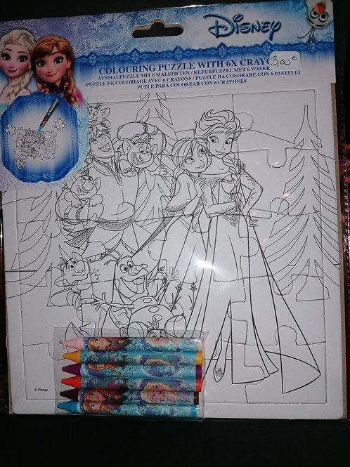 Puzzle à colorier reine des neiges