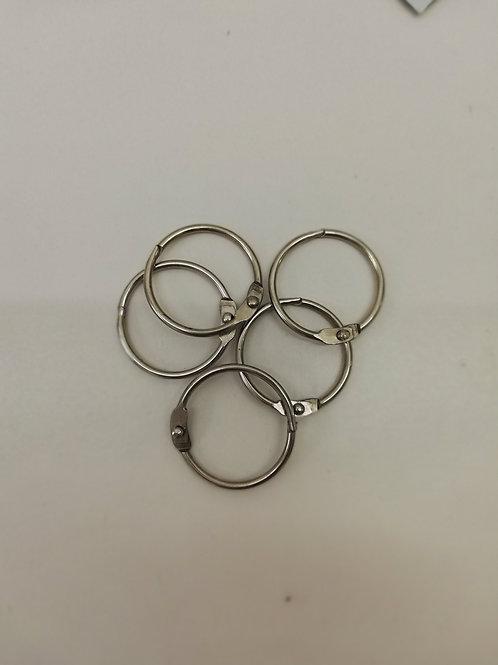 lot de 5 anneaux 30 mm argente