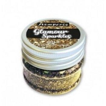 Glamour sparkles gold