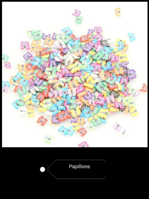 Tranche ultra fine en Fimo Papillons environ x100