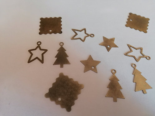 lot de 12 d embellissements metal Noël