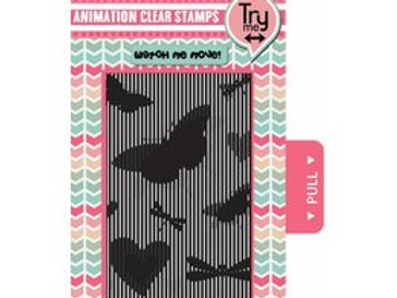 Tampon clear avec grille d animation AS4 Papillons