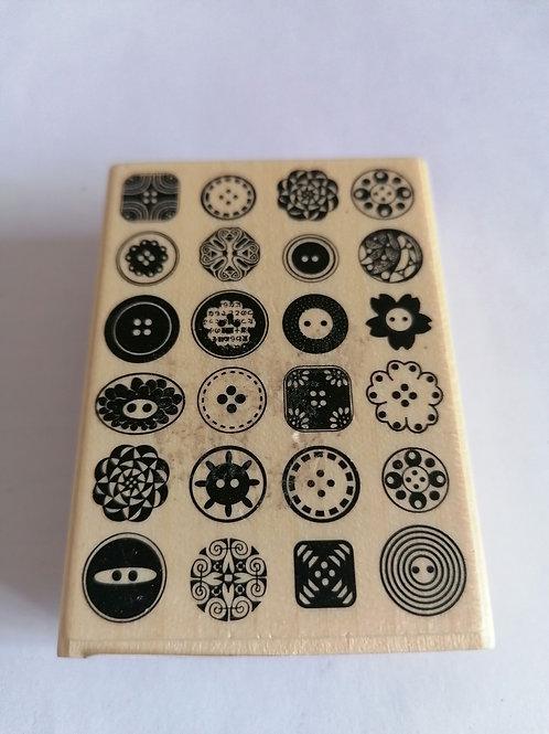 Tampon bois boutons