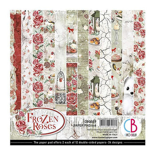 Ciao Bella Frozen Roses Pattern CBO039 15,5x15,5 cm