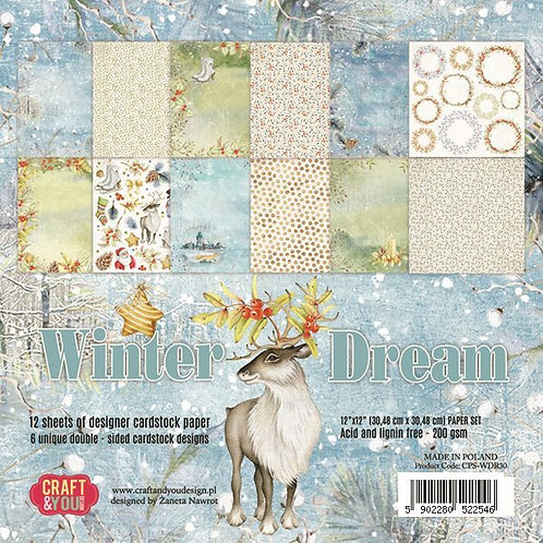 Bloc de papiers winter dream 30.5x30.5cm