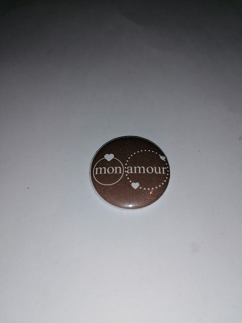"""Badge à dos plat """"mon amour"""""""