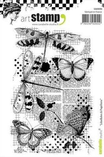 Tampon libellules & papillons