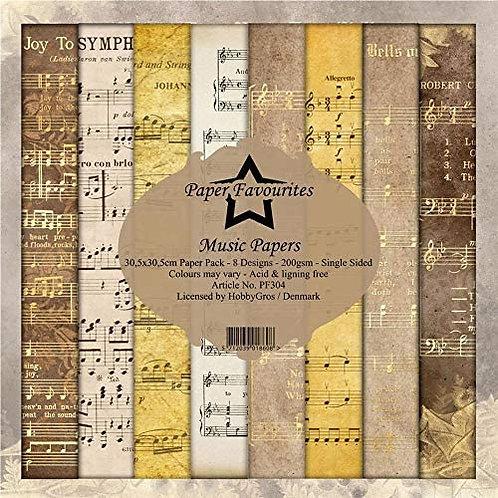 PAPIER 30,5 X 30,5 CM Music Papers