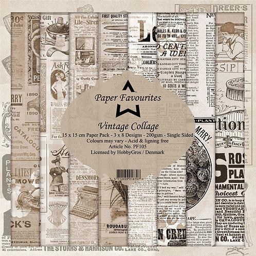 Papiers 15x15 cm vintage collage
