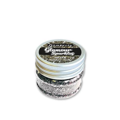 Glamour sparkles silver