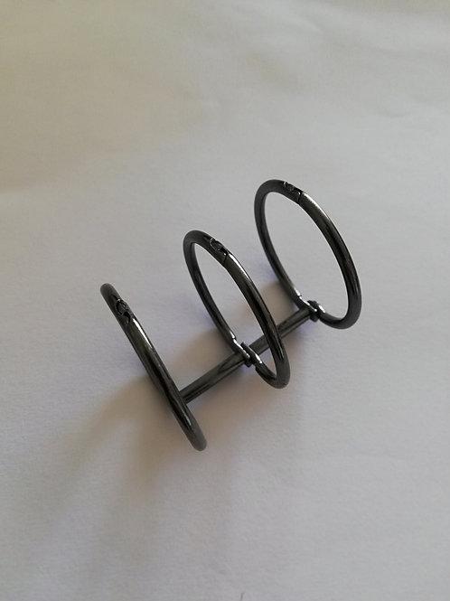 Triple anneaux de reliure bronze  10 mm