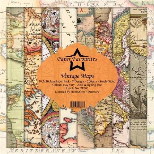 PAPIER 30,5 X 30,5 CM Vintage Maps