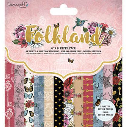 Destockage papier 20,5 x 20,5 cm Folkland Dovercraft