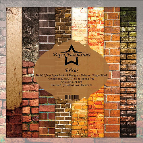 PAPIER 30,5 X 30,5 CM Bricks