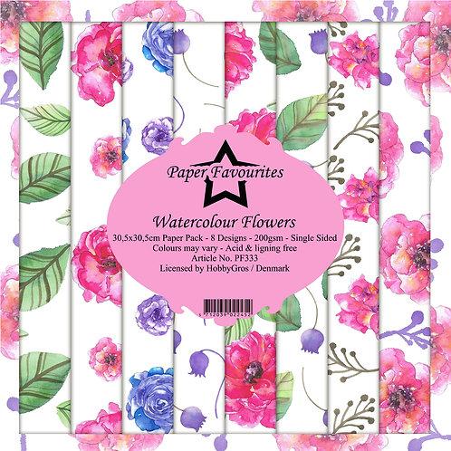PAPIER 30,5 X 30,5 CM Watercolour Flowers