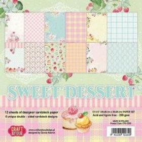 Papier Sweet dessert 15x15cm
