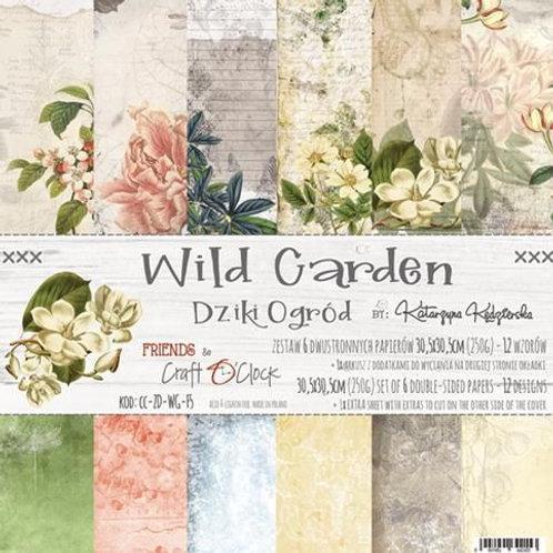 "Bloc papier ""wild Garden"" 30,5x30.5cm"