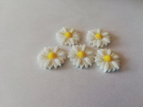 lot 5 fleurs  en resine
