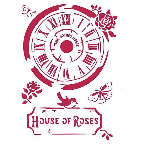 Pochoir house of rose
