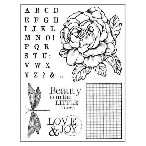 Tampon mousse rose et alphabet