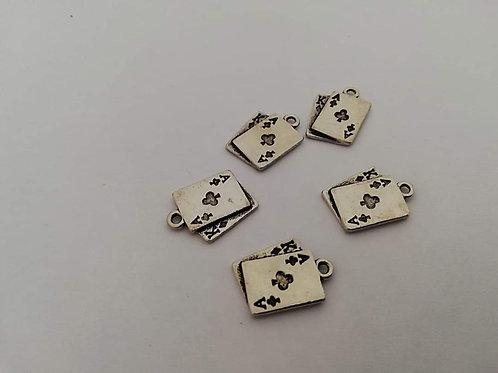 Lot de 4 breloques cartes a jouer