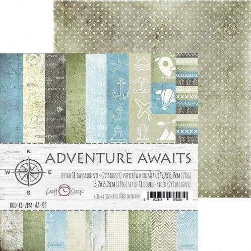 Bloc de papiers 15.25 x 15.25cm Adventure Awaits