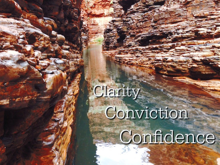 CLARITY CONVICTION CONFIDENCE