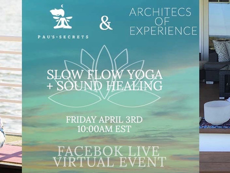 April 3rd 10-11am FREE Slow Flow Yoga on  Facebook live