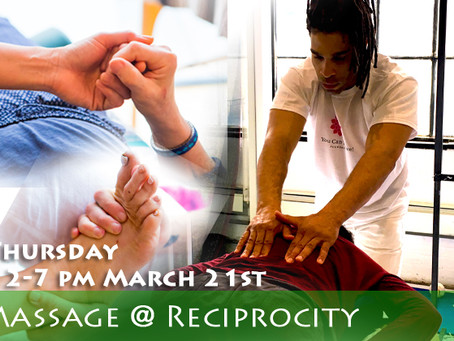 At YCT We Got Your Back,  ....& scalp & feet too!! Get an hour massage on 3/21/19